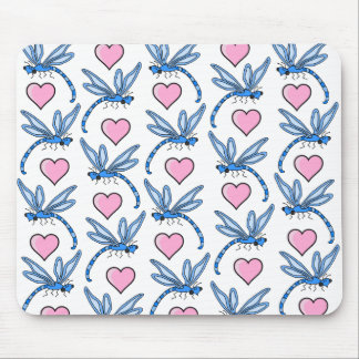 Dragonfly And Hearts Mousepad