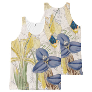 Dragonfly and Irises All-Over-Print Tank Top