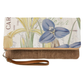 Dragonfly and Irises Clutch