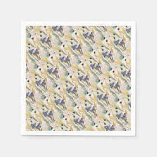 Dragonfly and Irises Disposable Napkins