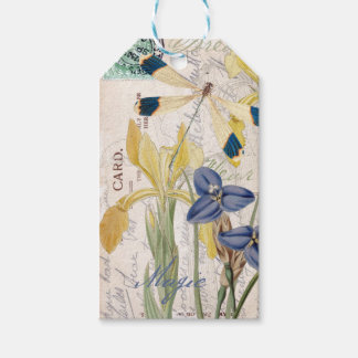 Dragonfly and Irises Gift Tags