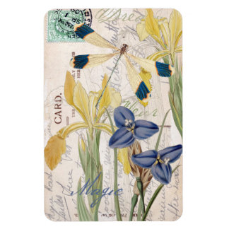 Dragonfly and Irises Magnet