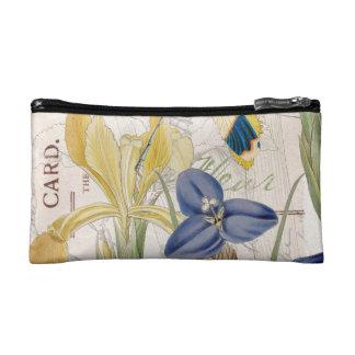 Dragonfly and Irises Makeup Bag