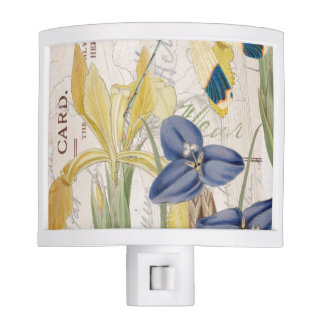 Dragonfly and Irises Night Light