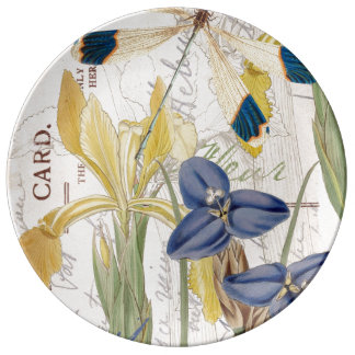 Dragonfly and Irises Plate