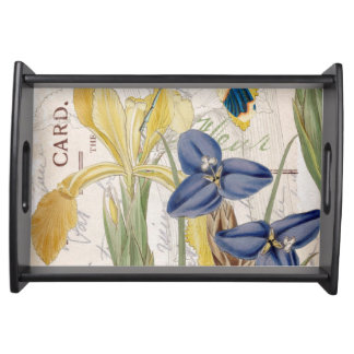 Dragonfly and Irises Serving Tray