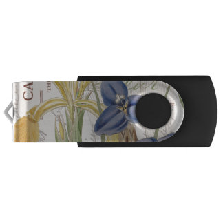 Dragonfly and Irises Swivel USB 3.0 Flash Drive