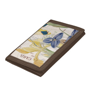 Dragonfly and Irises Tri-fold Wallet