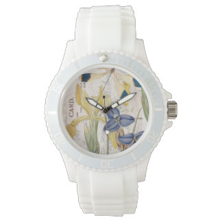 Dragonfly and Irises Watch