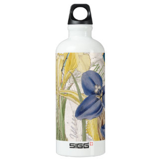 Dragonfly and Irises Water Bottle
