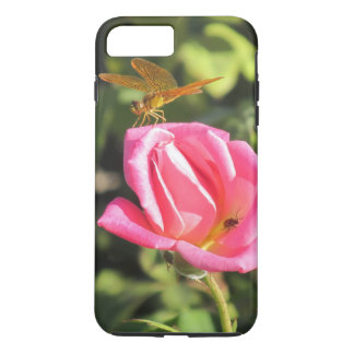 Dragonfly and Ladybug on Pink Rose iPhone 8 Plus/7 Plus Case