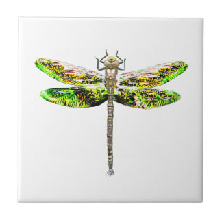 Dragonfly art and design gifts tile