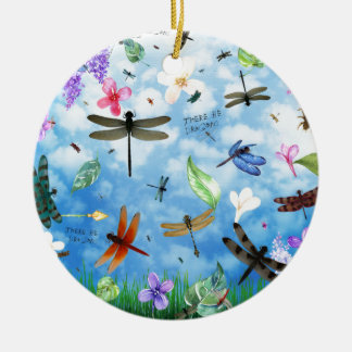 dragonfly art nola kelsey ceramic ornament