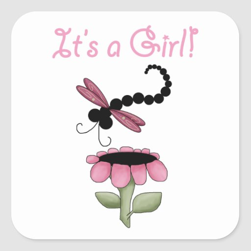 Dragonfly Baby Shower Stickers