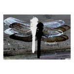 Dragonfly (black and white seperation) print