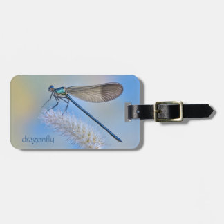 Dragonfly Blue Luggage/Laptop Tag