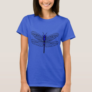 Dragonfly Blue Women's Hanes ComfortSoft® T-Shirt