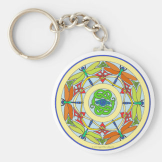 dragonfly circle keychain