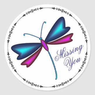 Dragonfly Classic Round Sticker