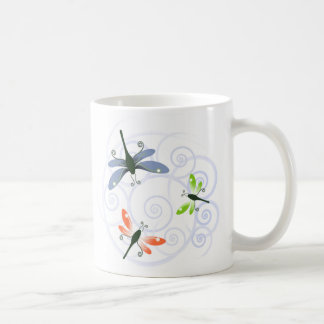 dragonfly curl coffee mug