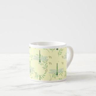 Dragonfly / Damselfly Pattern Espresso Cups