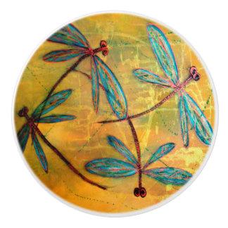 Dragonfly Dance Ceramic Knob
