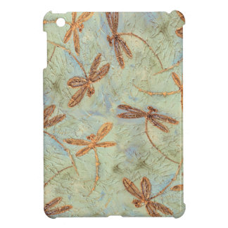 Dragonfly Dance Gold Case For The iPad Mini