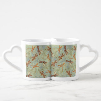 Dragonfly Dance Gold Coffee Mug Set