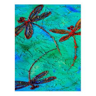 Dragonfly Dance Postcard