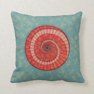 dragonfly dance throw pillow