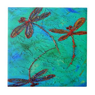 Dragonfly Dance Ceramic Tiles