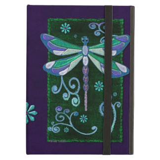 Dragonfly Elegant Jeweled Folk Art NAMED iPad Air Case