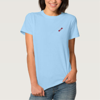 Dragonfly embroidered women's t-shirt polos