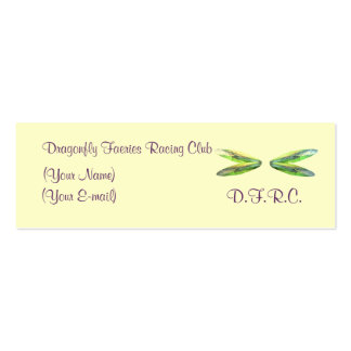Dragonfly Faeries Racing Club Profile Card Business Card Templates
