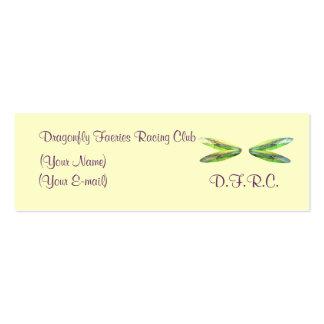 Dragonfly Faeries Racing Club Profile Card Mini Business Card