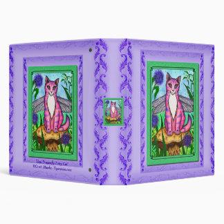 Dragonfly Fairy Cat Fantasy Art Avery Binder