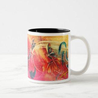 Dragonfly Fantasy Two-Tone Coffee Mug