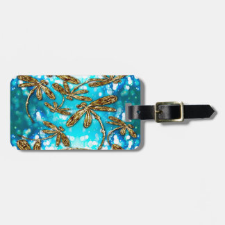 Dragonfly Flit Bubbles Luggage Tag