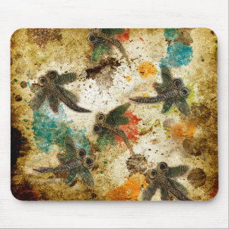 Dragonfly Flit Rustic Splash Mouse Pad