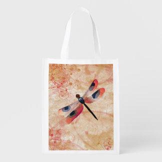 Dragonfly Flourish Reusable Bag Market Tote