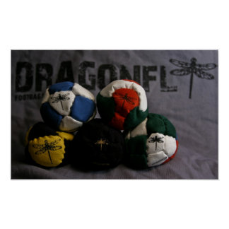 Dragonfly Footbags Poster