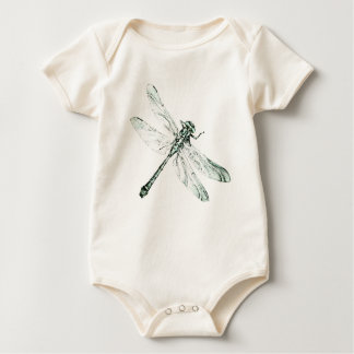 Dragonfly for kids baby bodysuit