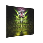 Dragonfly Fractal Magic Wrapped Canvas Canvas Print