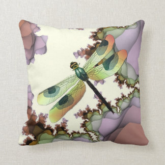 Dragonfly & Fractals Pillow