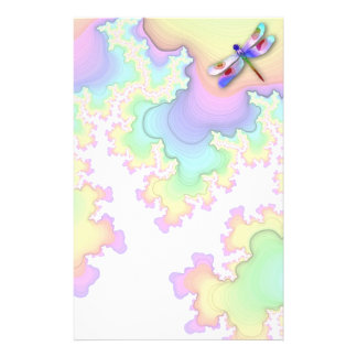 Dragonfly Fractals Stationery