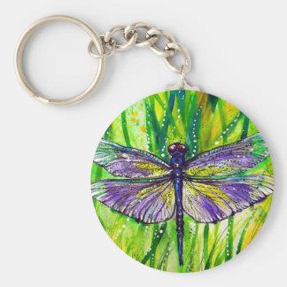 Dragonfly Garden Keychain