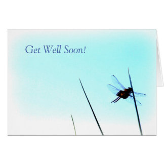 Dragonfly Get Well Soon Greeting Card