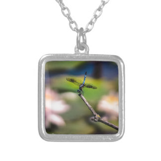 Dragonfly Handstand by Erina Moriarty Photography Silver Plated Necklace