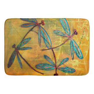 Dragonfly Haze Bath Mat