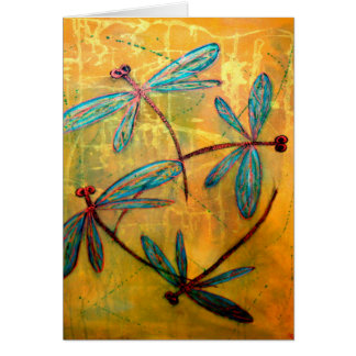 Dragonfly Haze Greeting Cards